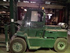 Clark Forklift10,000 lbPropane cabPneumatic tiresapprox. 6' forks2 stageModel CY100 Mast is 6' wide 6,539 hours on guage$8,000